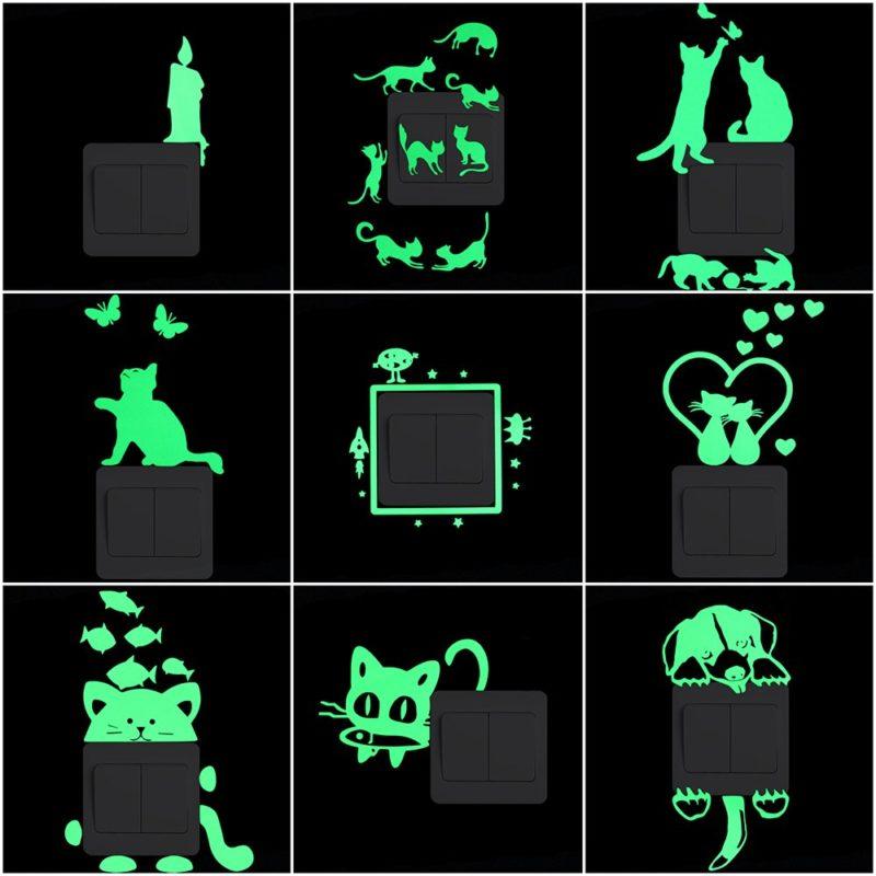 Мультфильм светящиеся Стикеры