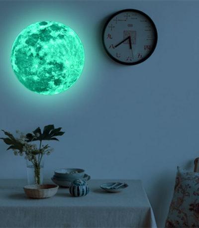Светящаяся луна настенная наклейка