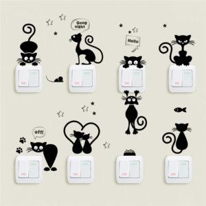 Животные наклейки на стены