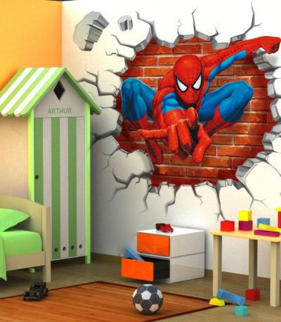 Человек-паук наклейки на стену
