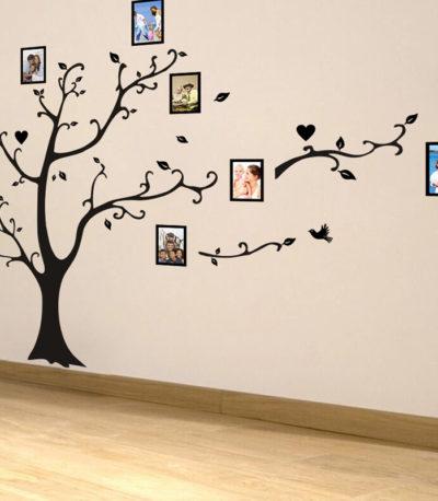 наклейки на стену дерево для гостиная