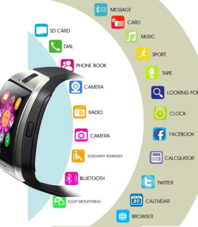 LEMFO Bluetooth смарт часы GSM Sim карт для IOS и Android