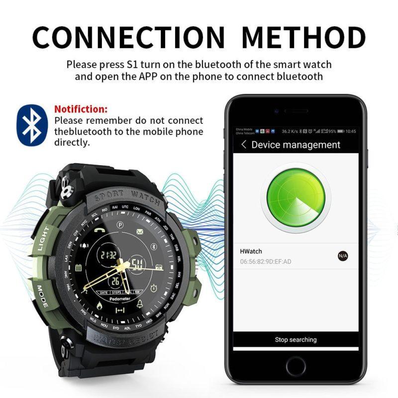 Bluetooth спортивные умные часы для IOS и Android