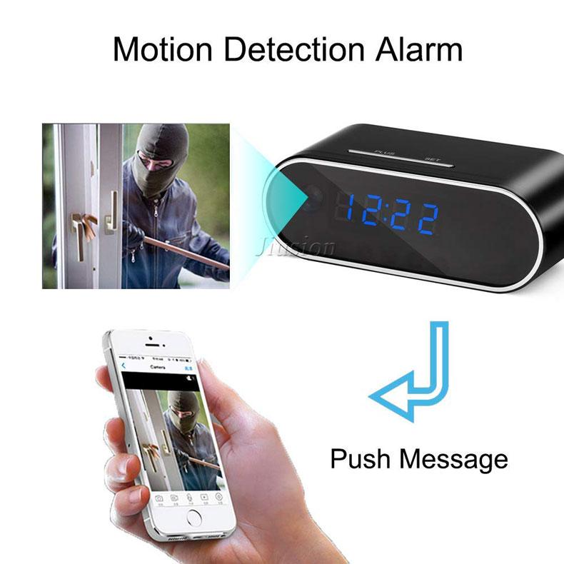 Настольные часы с мини камерой