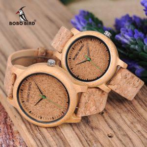Часы бамбук пар для влюбленных