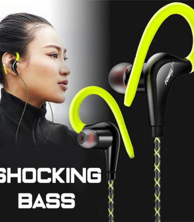 ушные крючки спортивные наушники Super Bass