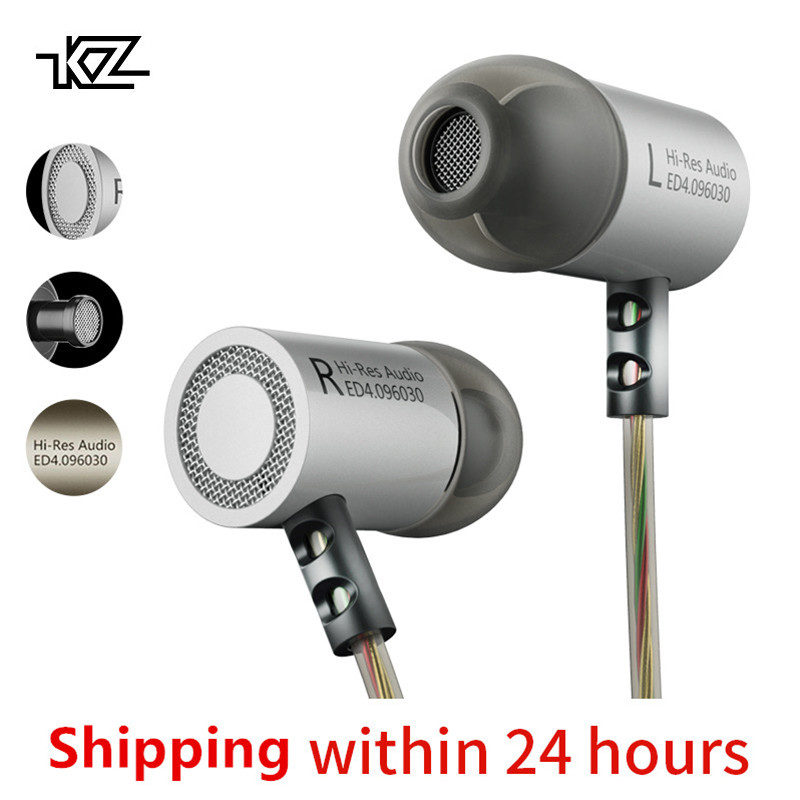 KZ ED4 металл стерео наушники с микрофоном