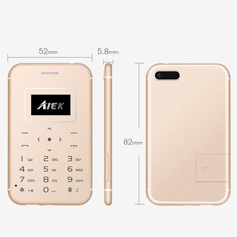 AIEK X8 ультратонкая Мини телефон