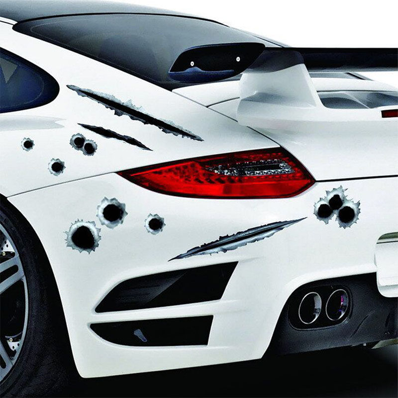 наклейки для автомобиля 3D пуля