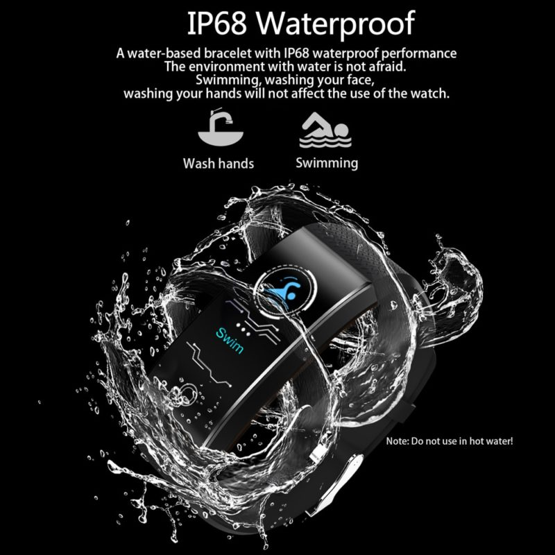QW18 Smart Bracelet Шагомер пульсометр IP68 водостойкий