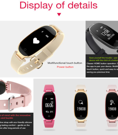 Bluetooth Водонепроницаемый S3 женские Smart Bracelet