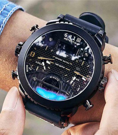 светодиодные спортивные часы для мужчин