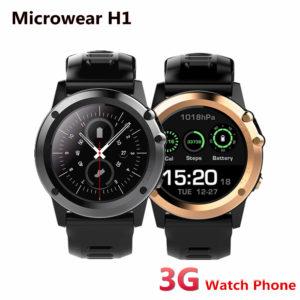 Microwear H1 3G Android Смарт часы IP68 и GPS