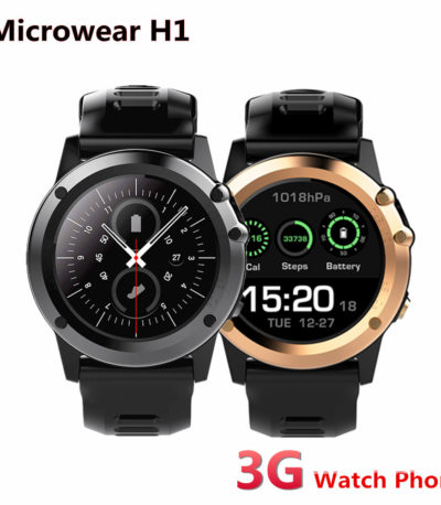 Microwear H1 3G Android Смарт часы IP68 и GPS
