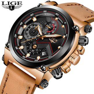 Бизнес кожаные спортивные мужские часы