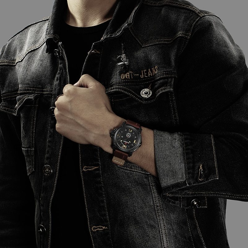 Мужские кварцевые часы в стиле милитари