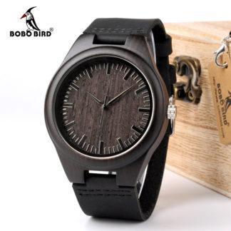 BoBo Bird деревянный часы из натуральной кожи