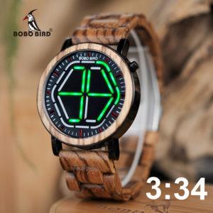 BOBO BIRD деревянные часы с ночной подсветкой