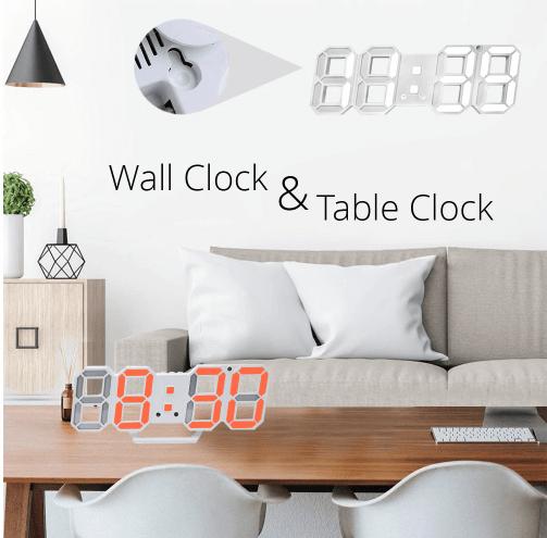 3D светодиодный настенные часы