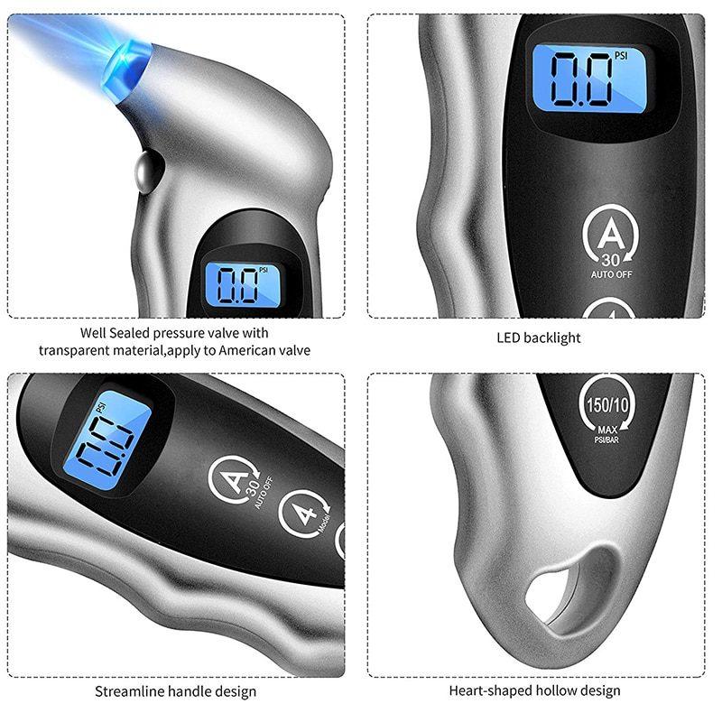 Манометр цифровой контроль давления в шинах
