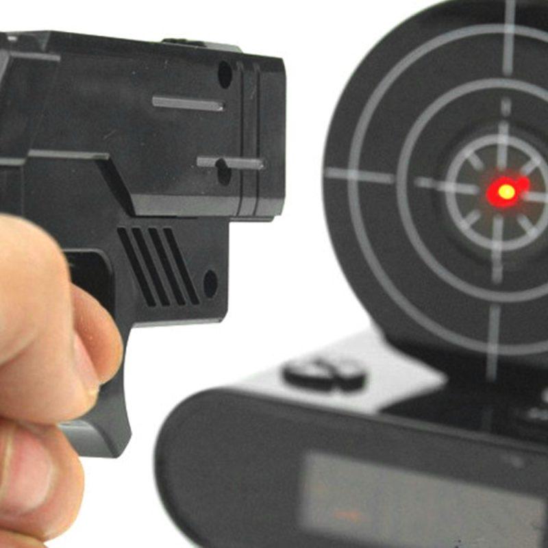 Настольный цифровой пистолет будильник креативный подарок