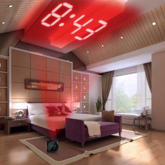 Цифровой будильник часы с проектором